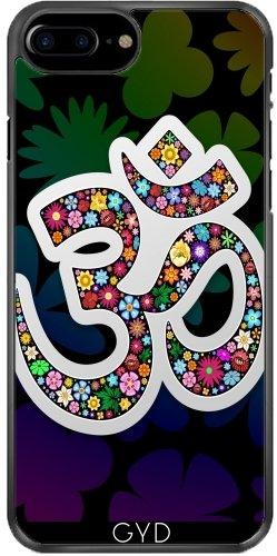 Leder Flip Case Tasche Hülle für Apple iPhone 6 Plus / 6S Plus - Namaste Yoga Floral Symbol by BluedarkArt Plastique Rigide