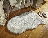 Faux Fur Sheepskin - Kunstfell-Teppich in Schaffelloptik - Grau 60x90