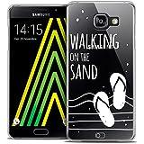 Caseink - Coque Housse Etui Samsung Galaxy A5 2016 (A510) [Crystal HD Collection Summer Design Walking on the Sand - Rigide - Ultra Fin - Imprimé en France]