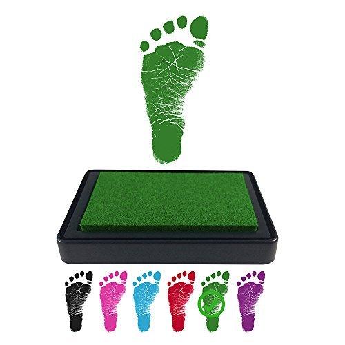 Baby Footprint Stempelkissen für Handabdrücke, 100% ungiftige und säurefreie Tinte, einfach zu reinigen/abwaschen, wischfest und langlebig, Schwarz (Einfach Tinte)