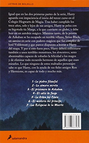 51w3kbLN%2BdL - Harry Potter y el prisionero de Azkaban: 102 (Letras de Bolsillo)