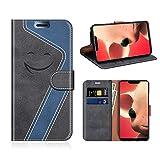 MOBESV Smiley Huawei P Smart+ Wallet Case, Huawei P Smart