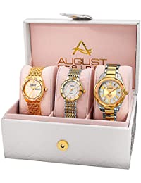 August Steiner AS8200YG - Set de 3 relojes de cuarzo para mujeres, color oro y bicolor