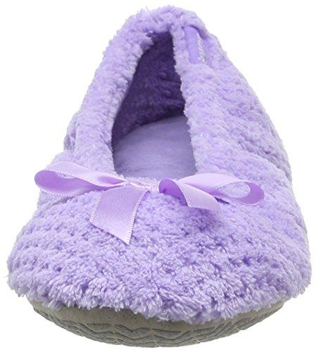 Isotoner 98972LAVSAMA, Pantofole Chiuse Donna Viola (Lavender)