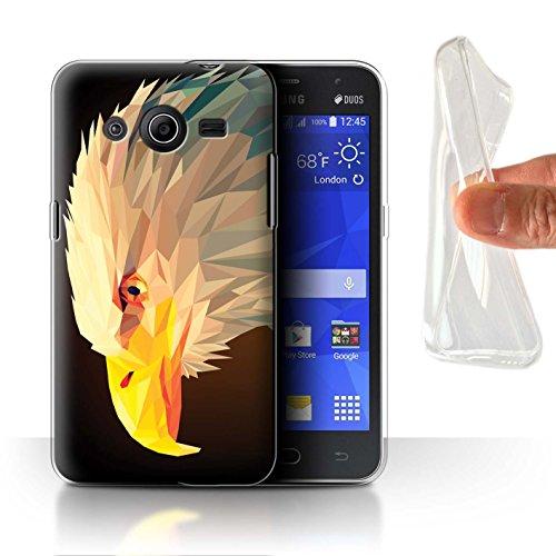 Stuff4® Gel TPU Hülle/Case für Samsung Galaxy Core 2/Weißkopfseeadler Muster/Geometrisches Tier Tierwelt Kollektion (2 Weißkopfseeadler)