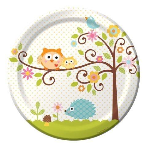 creative party Happi Tree Assiette Motif arbre et animaux