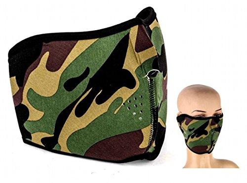 Máscara media cara reversible Bosque Camuflaje verde