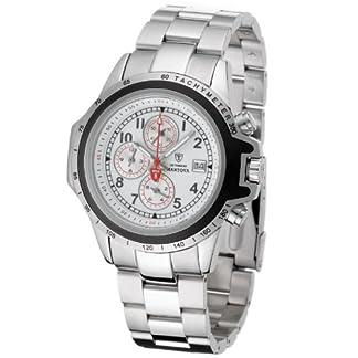 DeTomaso G-30817-A – Reloj de Caballero de Cuarzo, Correa de Acero Inoxidable Color Plata