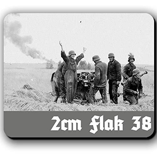 2cm Flak 38 Luftwaffe Flugabwehr Deutschland Abschuss - Mousepad #13788