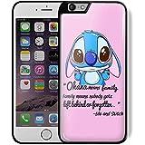 Lilo and stitch quote cute disney stitch For iPhone 6 Plus/6s Plus Black Case