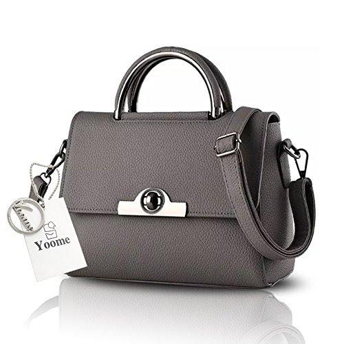 Sacchetti di Satchel dellannata per il sacchetto della borsa delle donne - Rosso Yoome Upscale Lichee Top Handle Handbags D.Grey