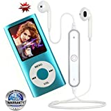 You Gadget MP4 Player 1.8 Inch LCD Screen Voice Recorder FM Radio Video Music Player With S6 Bluetooth Headset Compatible With Xiaomi,Samsung,Sony,Oneplus 1/2/3/3T/5 ,Iphone And Other Smart Phones (1 Year Warranty)