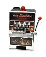 Divertentissima slot machine giocattolo riproduzione realistica di una vera slot da casino, completa di suoni e luce che segnala la vincita del jackpot. La slot machine casino funziona con monete vere, accetta il 98% delle monete e funziona c...