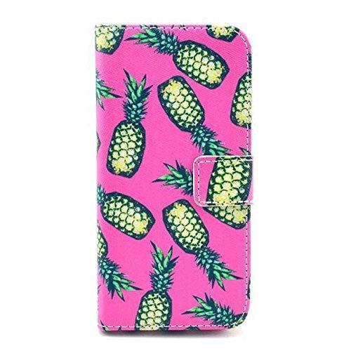 Monkey Cases® iPhone 6Plus 5,5pouces-Flip Case-Ananas-Cover-Mat-Premium-Original-Neuf-Housse-Pineapple
