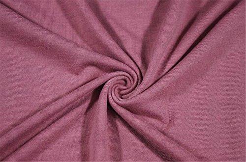 AILIENT Donna Maglietta Manica Lunga Girocollo Allentato Casuale Camicetta Righe T-Shirt Eleganti Tops Pink