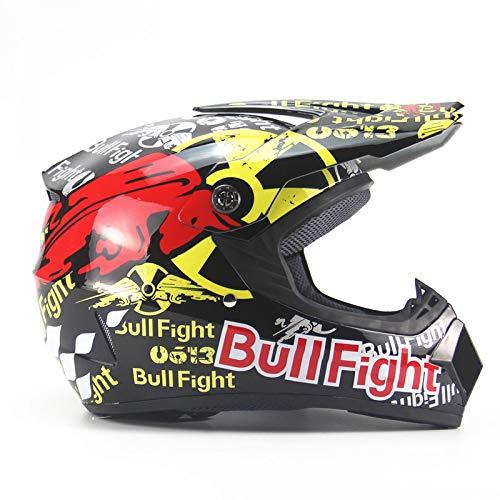 LOLIVEVE Persönlichkeit Vier Jahreszeiten Motorrad Motocross Helm Männer Batterie Auto Helm Mountainbike Voller Helm Dh Speed Drop Red Bull Kampf