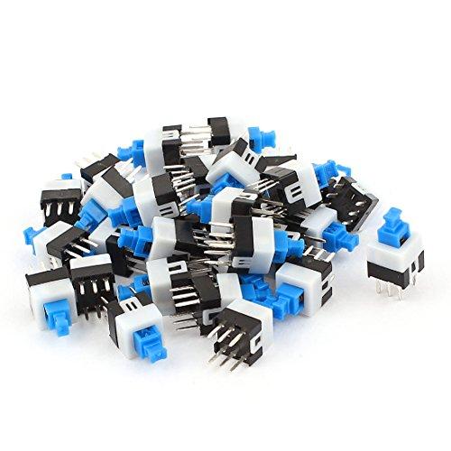 30pcs 6Pins, quadratisch, 7x 7mm Latching Action DPDT Mini Push Button Switch Dpdt Push-button