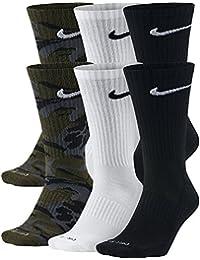 Nike Dri-Fit calcetines (tamaño mediano/6 pares) negro/blanco Tamaño