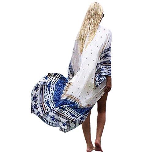 Kimono Cardigan Cover Up JLTPH Damen Sommer Boho Chiffon Bikini Cover up