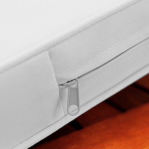 Gartenbank 2in1 mit Auflagenbox Sitzbank Holzbank Parkbank Bank inkl Sitzauflage 120cm -