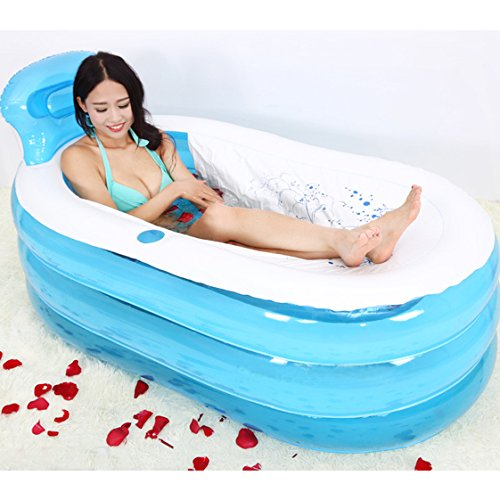 Haltbare erwachsene aufblasbare Badewanne wasserdichte Swimmingpools faltbar (blau)