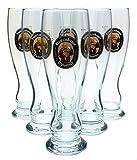 6 Stück Franziskaner Weissbier Gläser 0,3l