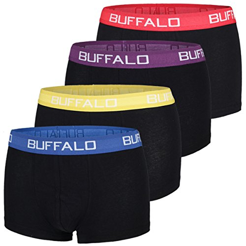 Buffalo Herren Hipster, Boxershorts (M, Farbkombination 2) (Herren Buffalo)
