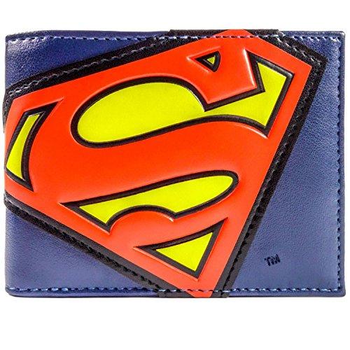 DC Comics Superman Suit Logo Bleu Portefeuille