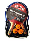 #5: Stag Tournament PLAYSET with 2 Racquets, 3 Seam Balls Table Tennis Kit