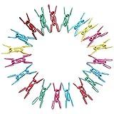 Longues listes épingles à linge, pinces à linge 40pcs longues listes Pinces à linge Serviette Clips colorés Clips de fil d'acier à revêtement en PVC de voyage Serviette Portable Clip, Multicolors