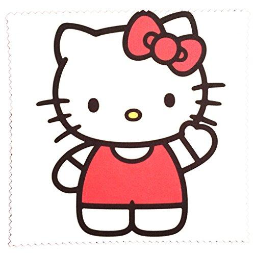 rille reinigen - Motiv Hello Kitty winkend - Brillenputztuch NEU ()