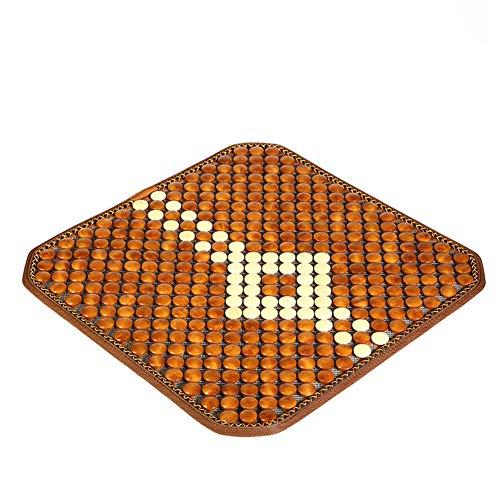 Brown Solid Kissenbezug Set (LIXIONG Auto Sitzauflage Autositzbezüge Set Sommer- Kissenbezug Für Den Innenraum des Autositzes Kühlkissen Mat Atmungsaktiv Einfach Zu Säubern Für Autozubehör Massivholz, 1pc (Farbe : Brown+Beige))