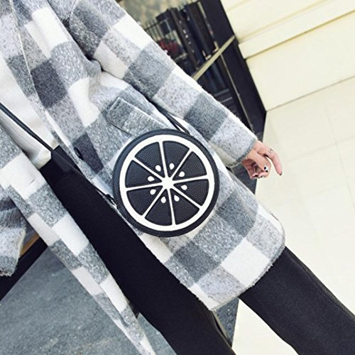 Eastbay Barato Real Visitar Nueva Línea Koly_Le donne di moda mini circolare Tracolla Borsa in pelle Body Bag Nero Perfecta En Línea 2018 Para La Venta gM2Geo