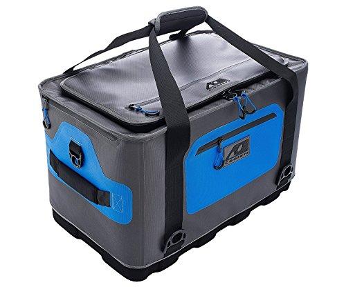 Ao coolers ibrido morbido/duro cooler con isolante ad alta densità (64pezzi), colore: blu/grigio