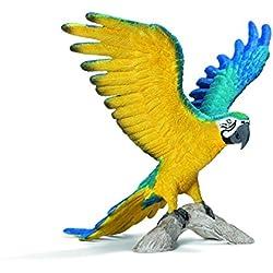Schleich - Figura Guacamayo, Color Azul y Amarillo (14690)