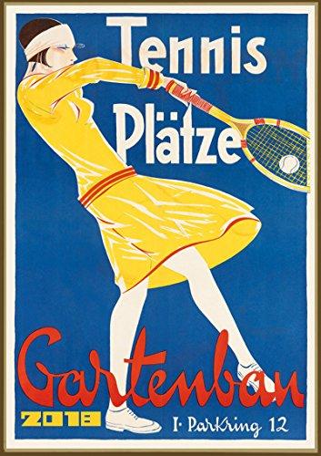 Kalender 2018 [12 seiten 20x30cm] Tennis Madchen Vintage Sport Werbung Plakat Advert [Calendar]