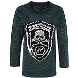 BEZLIT Jungen Sweatshirt Pullover Wende-Pailletten Tiger 21499 Grün Größe 164