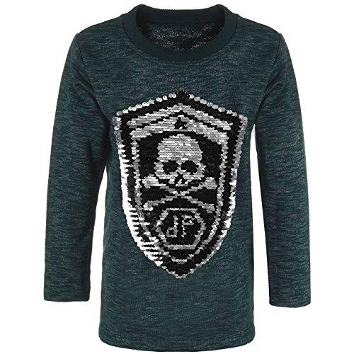 BEZLIT Jungen Sweatshirt Pullover Wende Pailletten Tiger 21499, Farbe:Grün, Größe:116