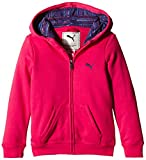 Puma Jacke Fun TD Hooded Sweat Jacket Terry G - Sudadera con capucha para niña, color rosa, talla 116 cm