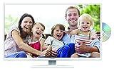 Lenco DVL-3252WH 32 Zoll LED-Fernseher (80 cm), drehbar mit DVD-Player und DVB-T2 HD, Triple-Tuner (Full HD (1.920 x 1.080), HDMI, USB, SCART, CI+), weiß