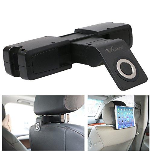 vimvip® Magnetische Unterstützung Kopf Nackenrolle Kopfstütze Auto Sitz Halterung für iPad Samsung Galaxy alle Tablets bis 27,9cm