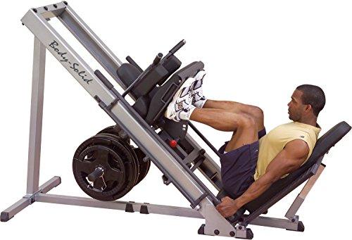 Body-Solid 3in1 Beintrainer Beinpresse 45° Hackenschmidt Wadentrainer Kraftstation Fitness Leg Press Hack Squat Glph-1100