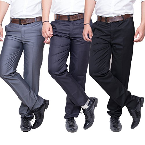 Mark Pollo Mens Slim Fit Trousers Combo