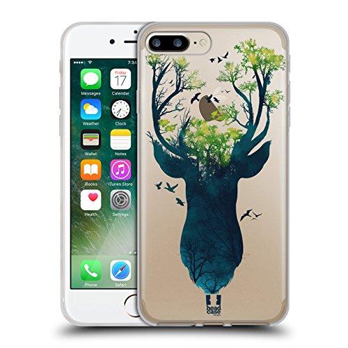 Head Case Designs Hirsch Tierwelt Silhouette Soft Gel Hülle für Apple iPhone 5 / 5s / SE Hirsch