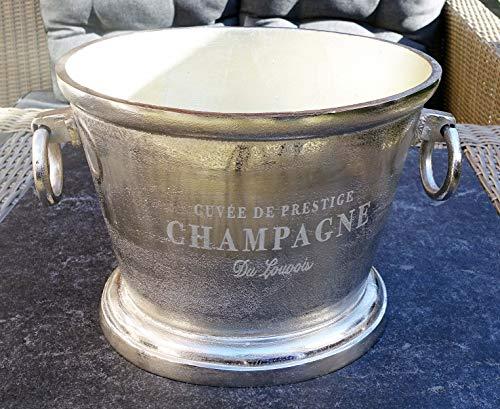 Michael Noll Champagnerkühler, Weinkühler, Flaschenkühler, Aluminium, Silber, XXL, 38 cm