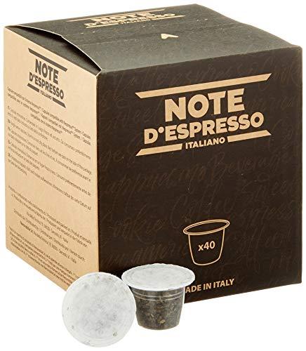 Note D'Espresso - Cápsulas de menta poleo compatibles con cafeteras Nespresso, 2g (caja de 40 unidades)