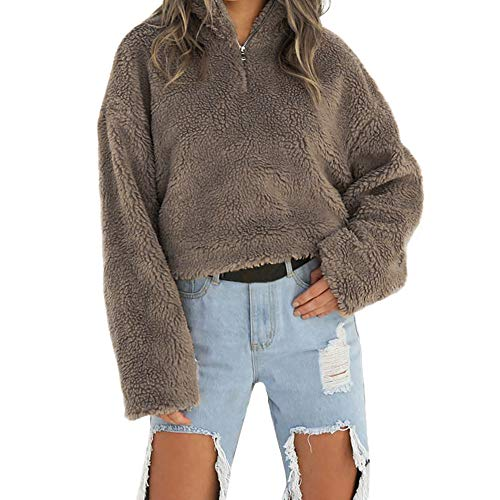TianWlio Damen Hoodie Frauen Langarm Hoodie 2018 Frauen Mantel Winter Warme Wolle Reißverschluss Baumwolle Mantel Bluse