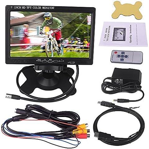 Kuman 7 inch HD 1024*600 Pantalla LCD Display para Raspberry Pi 3 3 2B B RPi 1 B+ A+ con HDMI VGA input, DVD VCR Car with Remote HDMI Cable SC7J
