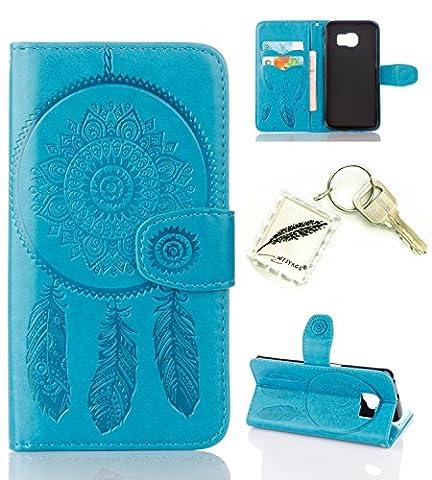 Etui Coque PU Slim Bumper pour Samsung Galaxy S6 Edge Souple Housse de Protection Flexible Soft Case Cas Couverture Anti Choc Mince Légère Silicone Cover Bouchon -photo Frame Keychain #AI