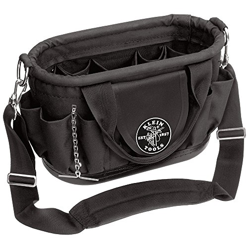 Klein Tools 58890 Polyester 17-Pocket Tool Tote with Shoulder Strap by Klein Tools - Kleine Shoulder Tote